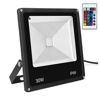 LED-lyskastere Bærbar Fjernstyrt Mulighet for demping Lett installasjon Vanntett Dekorativ Utendørsbelysning RGB AC 85-265V