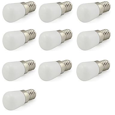 10pcs 1 W 80 lm E14 Bombillas LED de Globo 1 Cuentas LED LED de Alta Potencia Decorativa Blanco Fresco 220-240 V / 10 piezas / Cañas
