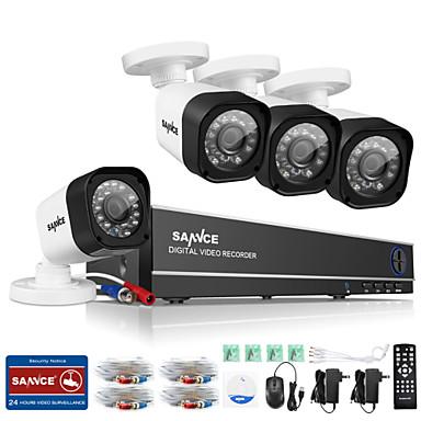 sannce® 8ch 720p ahd DVR HDMI 4kpl 720 ir pimeänäkölaitteet ulkona CCTV kameravalvonta sarjat
