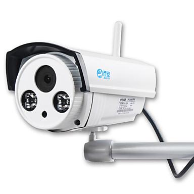 jooan® câmera ip sem fio 1mp gravação de áudio 720 p de segurança sem fio ao ar livre embutido 16 gb cartão micro tf