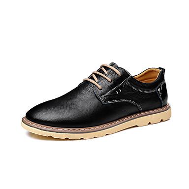 Miehet kengät Tekonahka Kevät Kesä Syksy Talvi Comfort Oxford-kengät Käyttötarkoitus Häät Juhlat Musta Ruskea Sininen