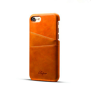 用途 iPhone X iPhone 8 iPhone 8 Plus iPhone 7 iPhone 7 Plus ケース カバー カードホルダー バックカバー ケース 純色 ハード PUレザー のために Apple iPhone X iPhone 8 Plus