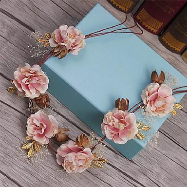 成人用 人造真珠 ファブリック かぶと-結婚式 パーティー カジュアル ヘッドバンド ティアラ 1個