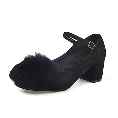 Sandaalit-Matala korko-Naisten-PU-Musta Vihreä Harmaa-Rento-Comfort