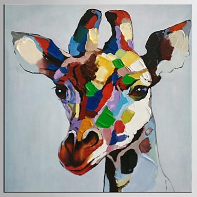 手描きの抽象的な/動物の壁の装飾、現代/古典的な1パネルのキャンバスの油絵