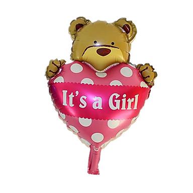 voordelige Ballonnen-Ballonnen Speeltjes Hartvormig Dier Opblaasbaar Feest Noviteit Aluminium Meisjes Jongens 1 Stuks