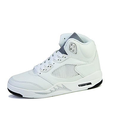 Miehet kengät Nahka Tyll Comfort Urheilukengät Koripallo Käyttötarkoitus Urheilullinen Valkoinen Musta Musta/Punainen