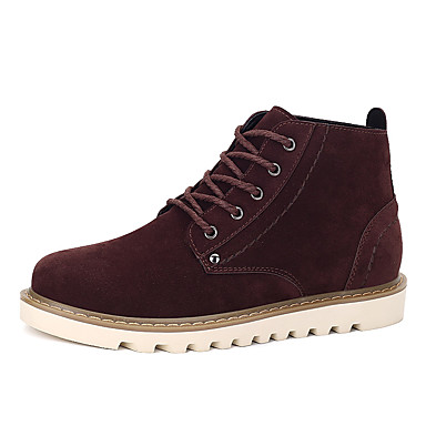 Herre sko Tekstil Vår Høst Vinter Komfort Trendy støvler Støvler Til Avslappet Svart Brun Mørkebrun