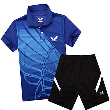 Dame T-skjorte og shorts til jogging Kortermet Fort Tørring Pustende Svettereduserende Klessett til Trening & Fitness Fritidssport Løp