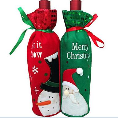 1kpl joulu viinipullo viinipullo laukku