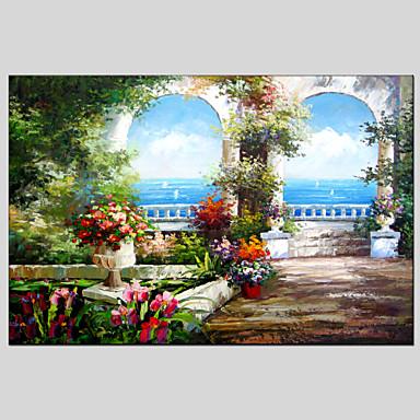 ハング塗装油絵 手描きの - 風景 クラシック 地中海風 キャンバス