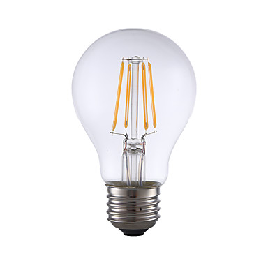 GMY® 1pc 350 lm E26 LED-glødepærer A60(A19) 4 LED perler COB Mulighet for demping Varm hvit 110-130 V / 1 stk. / UL-Sertifisert