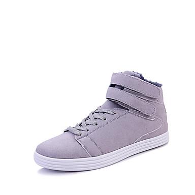 Herre sko Tekstil Vår Høst Vinter Komfort Treningssko Til Avslappet Svart Grå Rød Blå