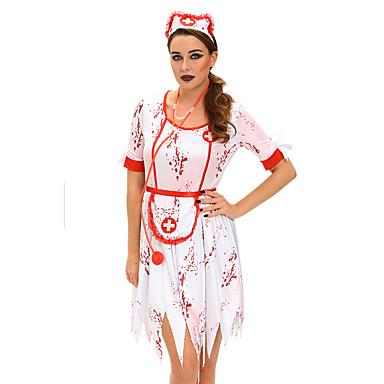 Sairaanhoitajat ura Puvut Cosplay-Asut Juhla-asu Naisten Halloween Karnevaali Festivaali / loma Halloween-asut Painettu Hospital Services