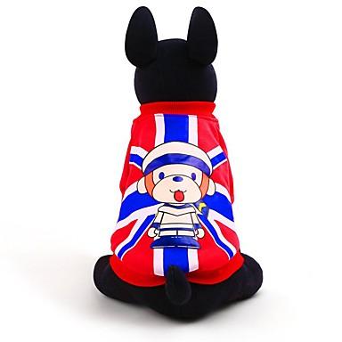 Kissa Koira College Koiran vaatteet Rento/arki Muoti Englantilainen Punainen Sininen Asu Lemmikit