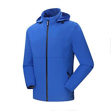 Miesten Softshell-takki vaellukseen Vedenkestävä Nopea kuivuminen Tuulenkestävä Eristetty Käytettävä Hengittävä Mukava Softshell-takit
