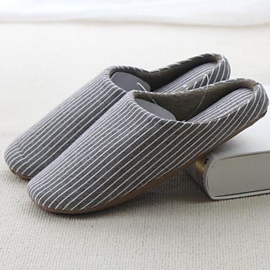 Miesten kengät Kangas Talvi Slingback Tossut & varvastossut varten Kausaliteetti Beesi Kahvi Punainen Sininen Pinkki
