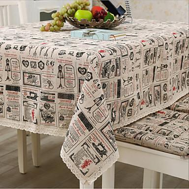 方形 パッチワーク パターン柄 テーブルクロス , リネン/コットン混 材料 表Dceoration ホテルのダイニングテーブル