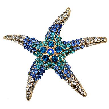 Mulheres Broches - Estrela do Mar Fashion Broche Branco / Vermelho / Azul Para Festa / Diário / Casual