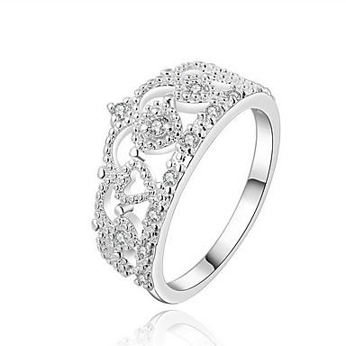 Ringer Daglig / Avslappet Smykker Sølv Dame Statement Ringe / Ring 1 stk,8 Sølv