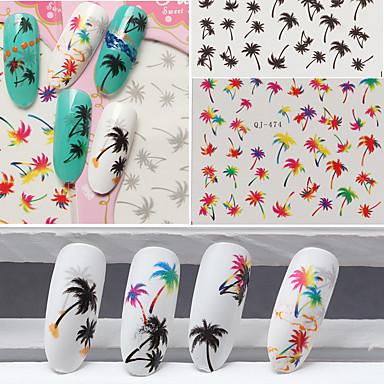 3pcs Nail Art klistremerke Vann Transfer dekor makeup Cosmetic Nail Art Design