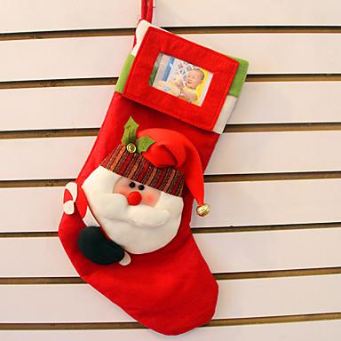 2個のステレオサンタクロースの靴下クリスマスギフトバッグトップグレードのステレオクリスマスの靴下は、写真を置くことができます