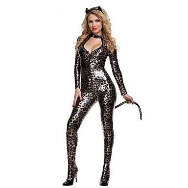 Cosplay Kostumer Brun Patentert Lær Cosplay-tilbehør Halloween Karneval Nytt År