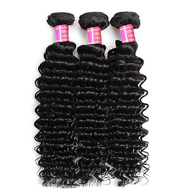 Brasilian neitsyt hiukset syvä aalto 3 niput Brasilian syvä aallon hiukset 100% ihmisen hiukset 8