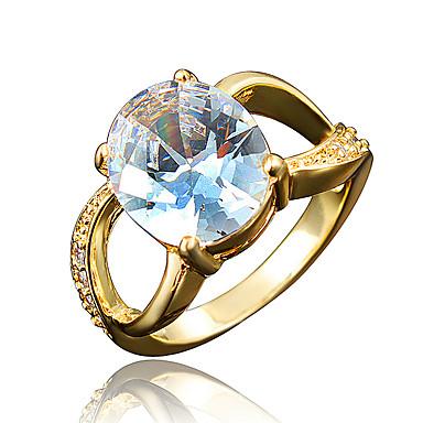 女性 指輪 キュービックジルコニア ゴールドメッキ 18K 金 ジュエリー 用途 結婚式 パーティー 日常 カジュアル