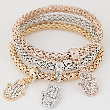 نسائي طبقات كومة أساور ساحرة - حجر الراين, تقليد الماس ترف, أوروبي, أسلوب بسيط سوار قوس قزح من أجل هدية مناسب للبس اليومي