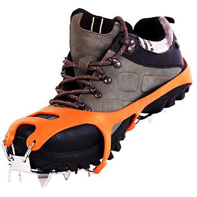 Stegjern Klatring sko Isbrodder 18 tenner Anti Glide Rustfritt Stål Gummi til Vandring Snøsport