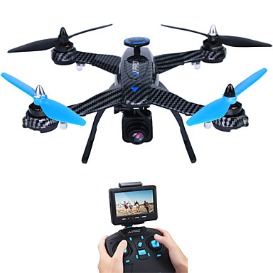 billige Fjernstyrte quadcoptere og multirotorer-RC Drone JJRC X1G 4 Kanaler 6 Akse 5.8G Med 2,0 M HD-kamera Fjernstyrt quadkopter FPV / LED Lys / Feilsikker Fjernstyrt Quadkopter / Fjernkontroll / Kamera / Flyvning Med 360 Graders Flipp / Sveve