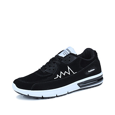Miehet kengät Mokkanahka Kevät Kesä Syksy Talvi Comfort Urheilukengät Jouksu Käyttötarkoitus Kausaliteetti Musta Harmaa Sininen