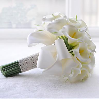 Esküvői virágok Kör Csokrok Esküvő Poliészter Szatén Csipke Gyöngy Strassz 9,45