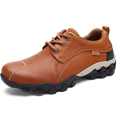 Férfi cipő Nappa Leather Ősz / Tél Kényelmes Félcipők Túrázó Világosbarna / Khakizöld