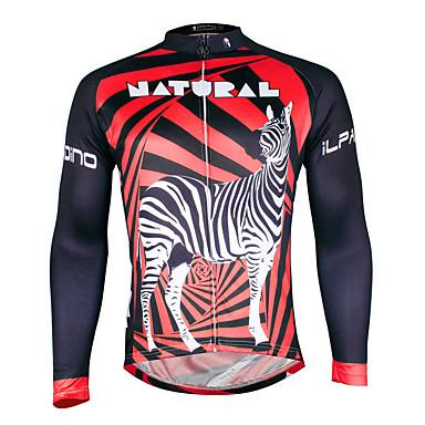 ILPALADINO Miesten Pitkähihainen Pyöräily jersey Pyörä Jersey, Nopea kuivuminen, Ultraviolettisäteilyn kestävä, Hengittävä,