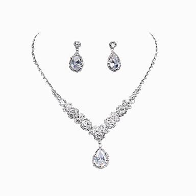 Mujer Cristal Conjunto de joyas - Incluir Plata Para Boda / Fiesta