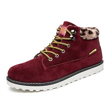 メンズ 靴 スエード 春 秋 冬 コンフォートシューズ ファッションブーツ ブーツ 用途 カジュアル ブラック Brown ブルー バーガンディー