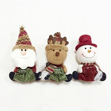 Loma-koristeet Eläimet Lumiukot Santa Joulu-säilytys Christmas 1 2 3