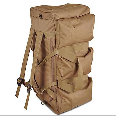 80 L ryggsekk Ryggsekk Pakker Camping & Fjellvandring Klatring Fritidssport Vanntett Pustende Støtsikker Tactel Nylon
