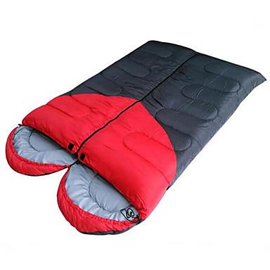 Bolsa de dormir Al aire libre Doble 8 °C Saco Doble Resistente al Viento / Impermeable / Portátil para Camping y senderismo Primavera / Otoño / Invierno