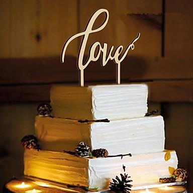 誕生日 / ウェディングパーティー ウッド 混合材 結婚式の装飾 クラシックテーマ 冬 春 夏 秋 オールシーズン