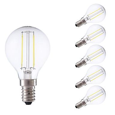 GMY® 6pcs 250 lm E14 LED-glødepærer P45 2 leds COB Varm hvit Kjølig hvit AC 220-240V