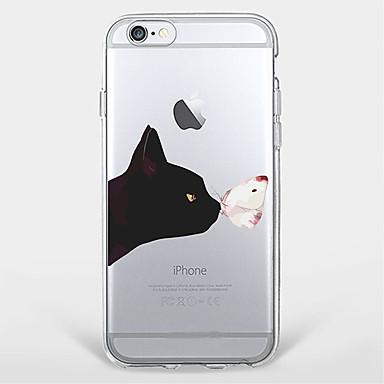 Varten Ultraohut / Läpinäkyvä / Kuvio Etui Takakuori Etui Kissa Pehmeä TPU AppleiPhone 7 Plus / iPhone 7 / iPhone 6s Plus/6 Plus / iPhone