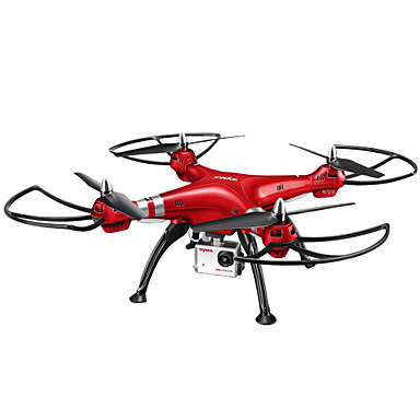 RC Drone SYMA X8HW 4CH 6 Axis 2.4G With HD Camera 5.0MP 1920*1080 RC Quadcopter LED Lights / One Key To Auto-Return / Auto-Takeoff RC
