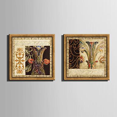 Lienzo enmarcado Conjunto enmarcado Floral/Botánico Arte de la pared, PVC Material con Marco Decoración hogareña marco del art Sala de
