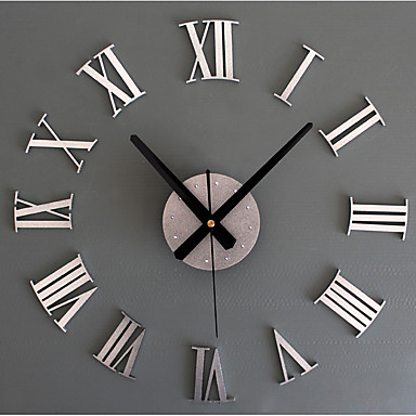cheap Wall Clocks-Wall Clock,Modern Contemporary Retro Acrylic Glass Metal Round Indoor / Outdoor