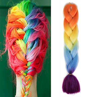 Cabelo para Trançar Crochê Tranças Jumbo 100% cabelo kanekalon 1 Tranças de cabelo Cabelo Ombre para Extensão