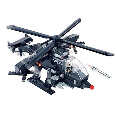 Toimintafiguurit ja pehmolelut Rakennuspalikat Gift Rakennuspalikat Rakennuslelu Panssarivaunu Taistelija Helikopteri ABS5 - 7 vuotta 8 -