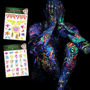 4 Tatoveringsklistremerker Smykke Serier / Blomster Serier / Totem Serier / Andre / Cartoon Series / Romantisk SeriesNon Toxic / Mønster